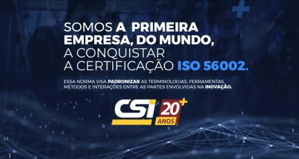 Certificação ISO 56002 - CSI Locações